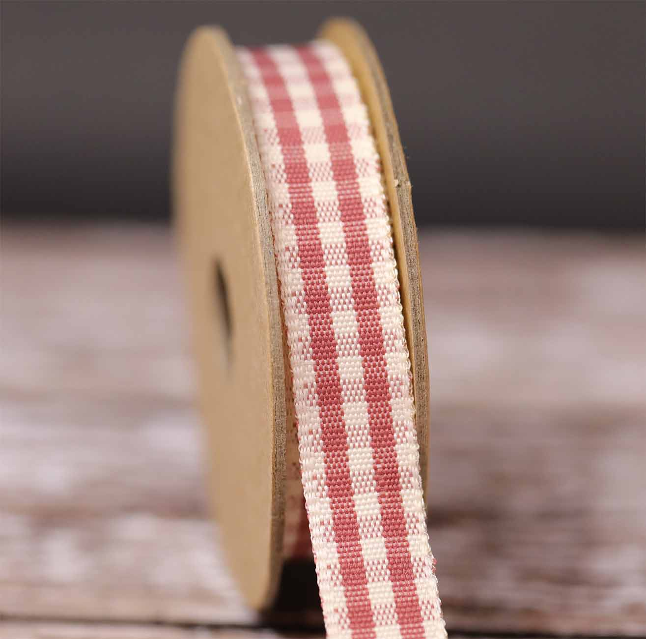 Natural Gingham Ribbon