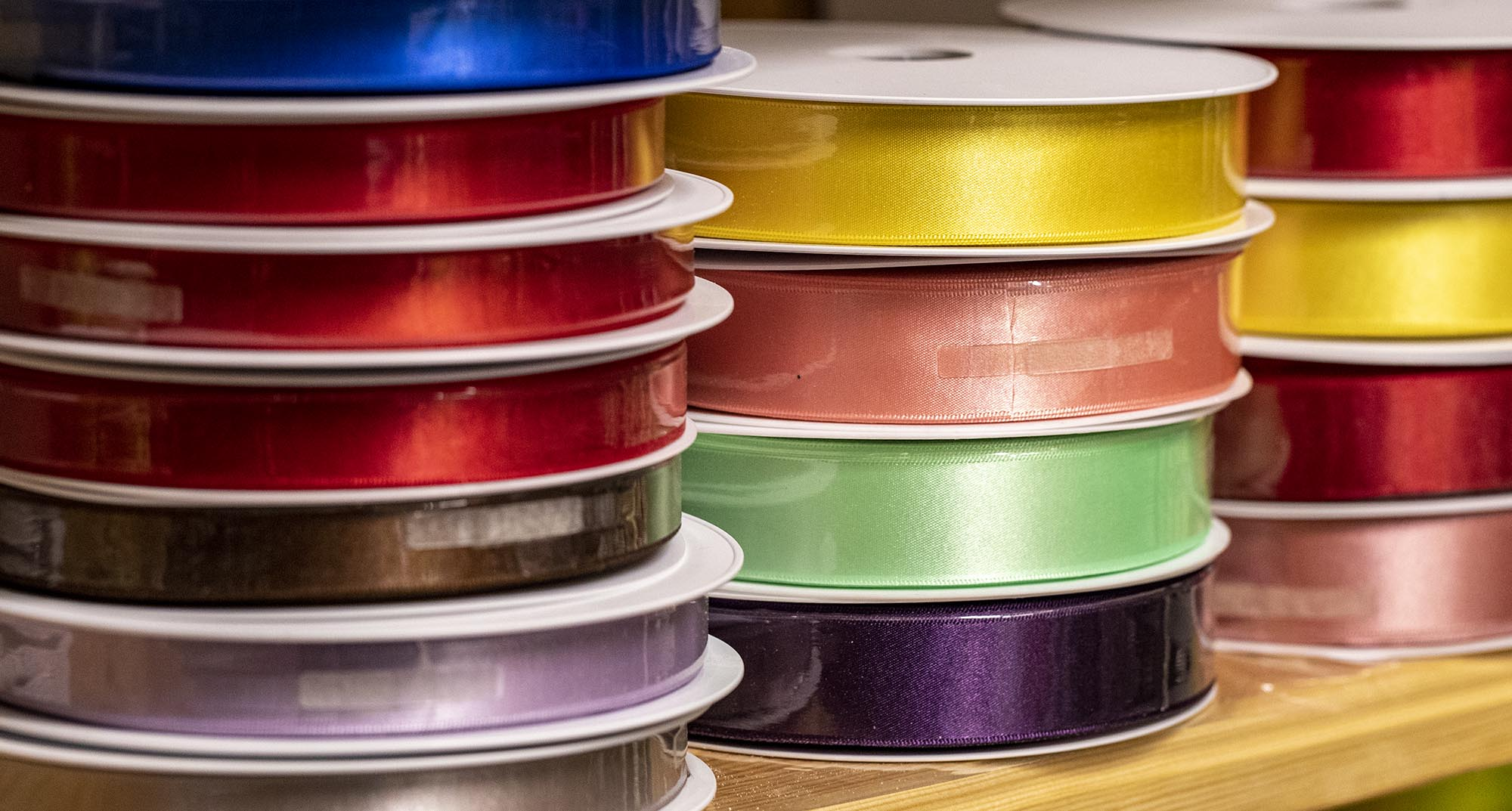 Berisfords Satin Ribbon Bulk Reels - 100% Recycled Yarn