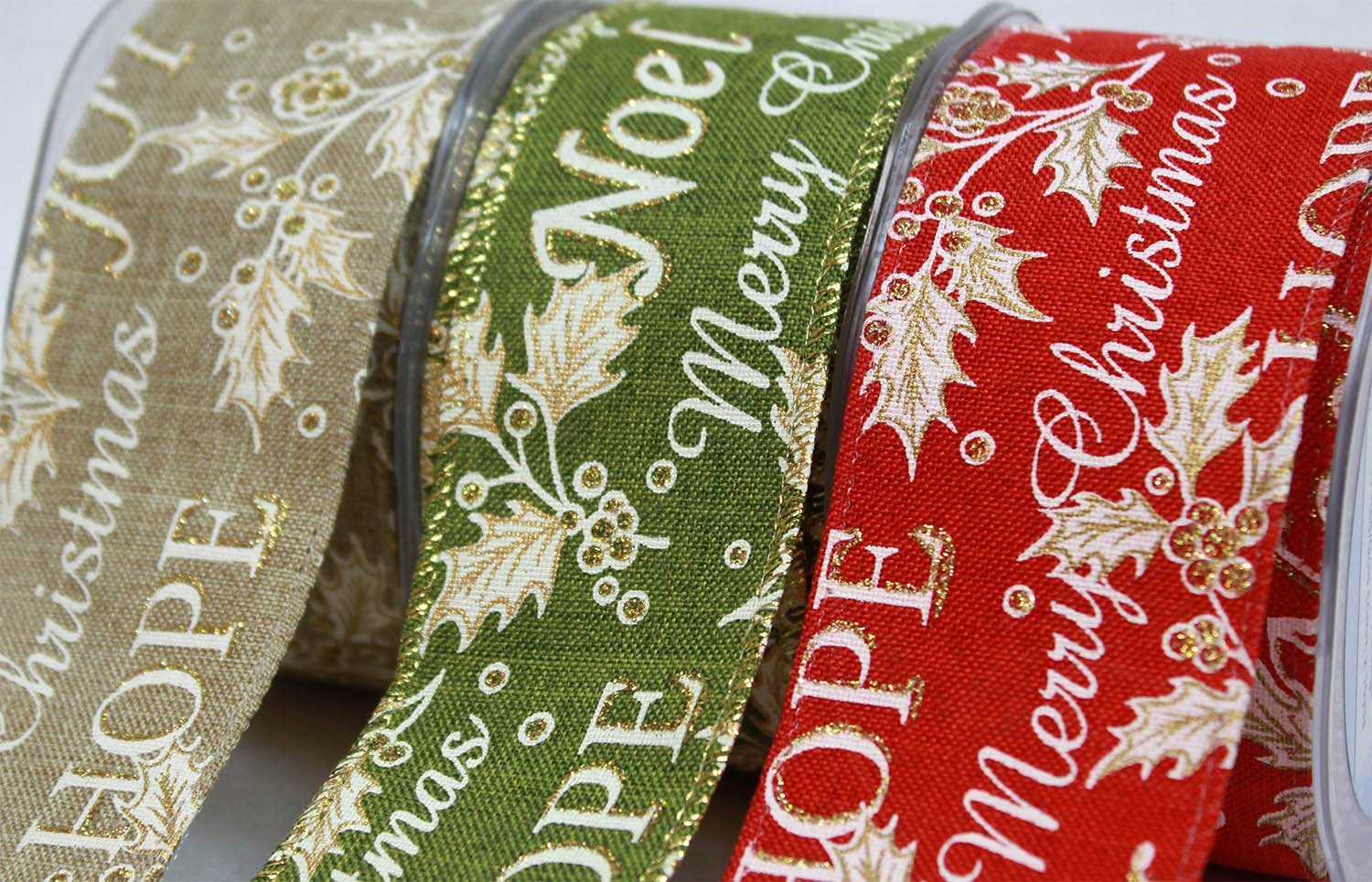 Wired Edged Christmas Ribbons