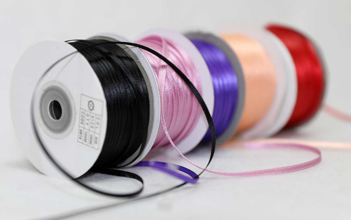 Clearance Double Satin Ribbons