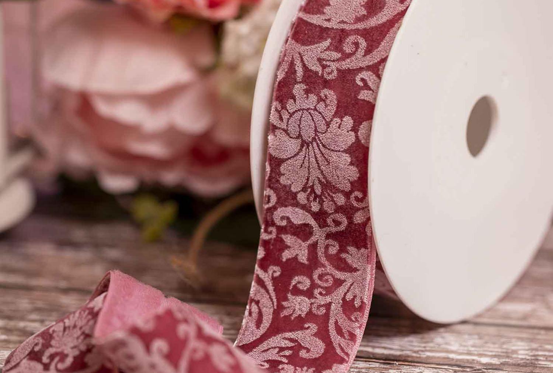 Velvet Printed Ribbon & Crushed Velvet Ribbon