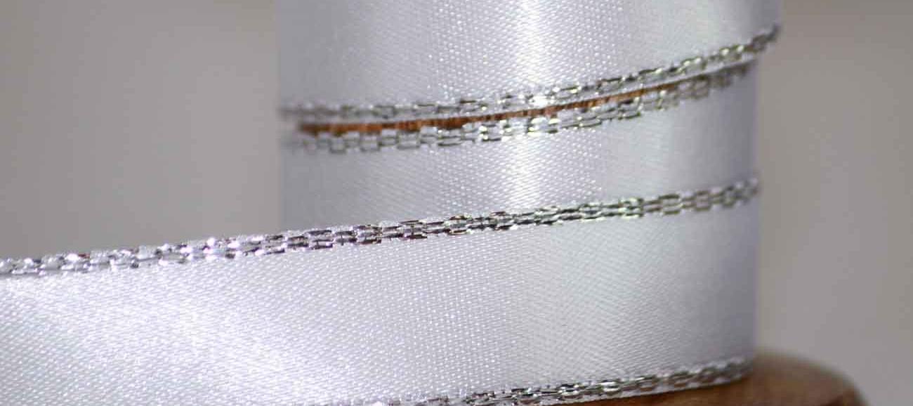 Metallic Edged Christmas Ribbons