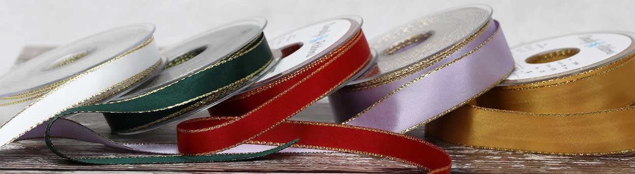 Gold Edged Ribbon