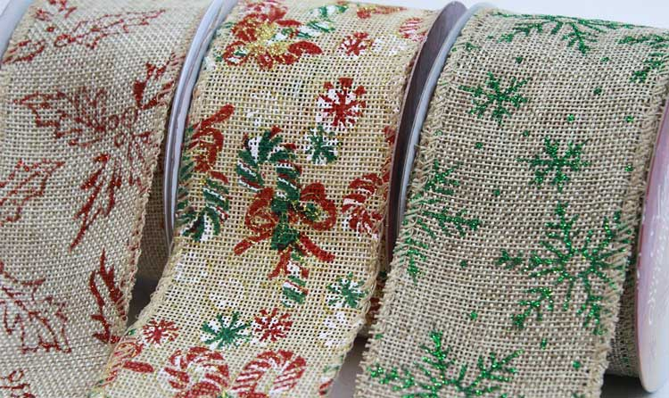 Hessian Christmas Ribbons