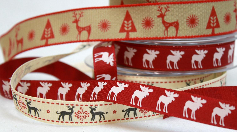Reindeer Christmas Ribbons