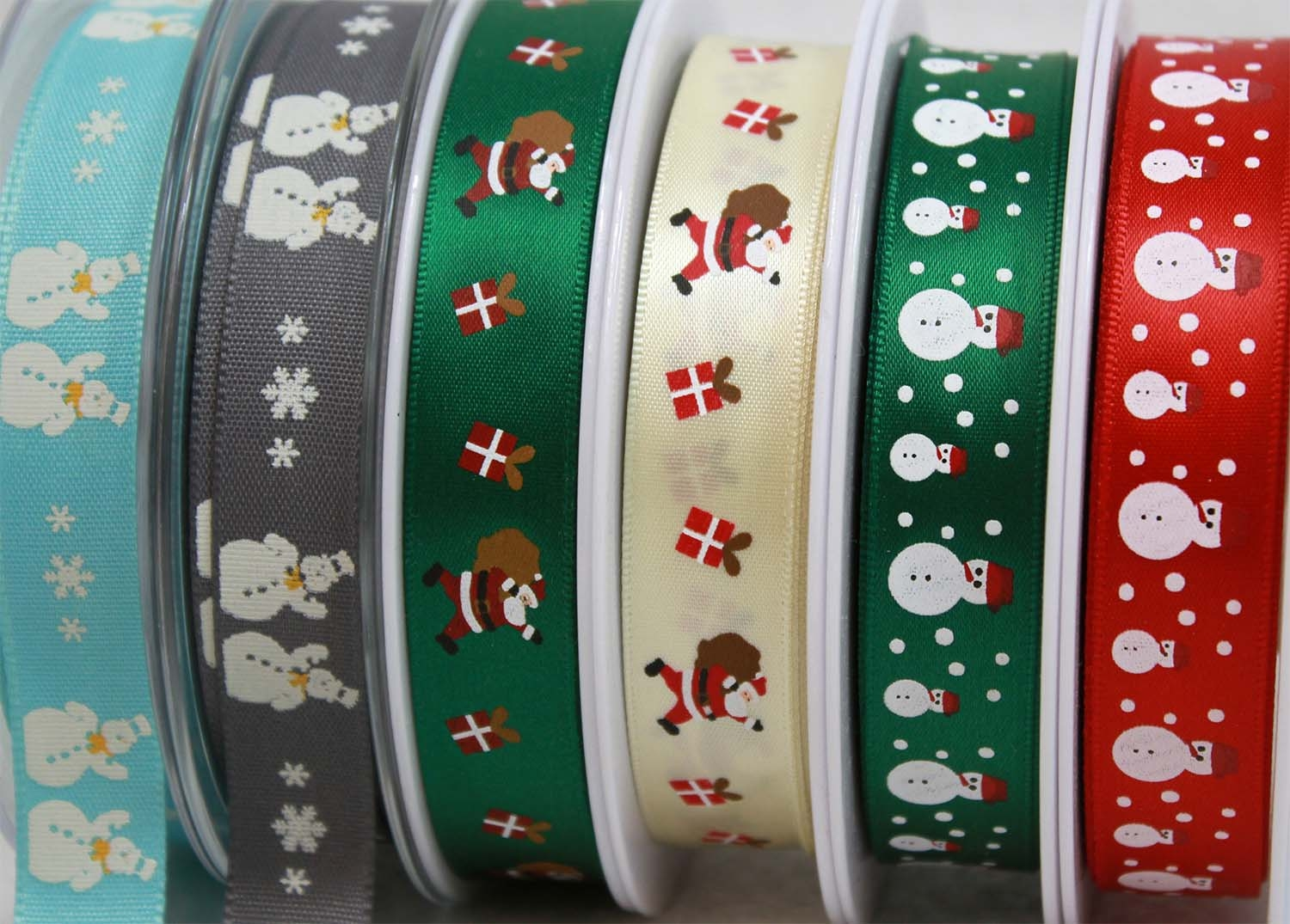 Santa & Snowman Themed Christmas Ribbons