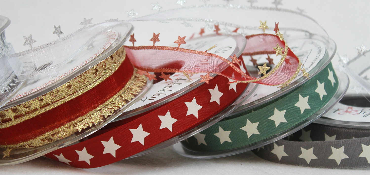 Star Themed Christmas Ribbons