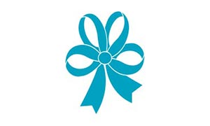 Vintage Flower & Dot Ribbon 25mm x 10m - Blue