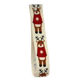 Reindeer In A Jumper 15mm x 5m