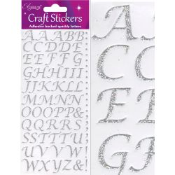 Silver Stylised Alphabet Stickers