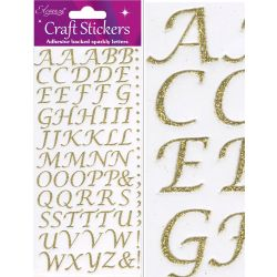 Gold Stylised Alphabet Stickers