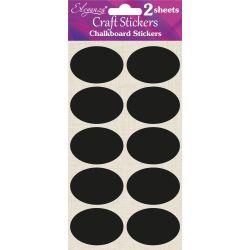Oval Shaped Chalkboard Stickers 35mm x 20pcs