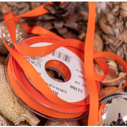 10mm Orange Grosgrain Ribbon