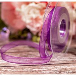 Plum Sheer Ribbons | Organza Ribbons by Berisfords Ribbons - 10mm