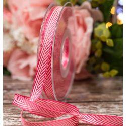 Shocking Pink 10mm Herringbone Ribbon Article 1392