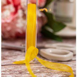 Yellow Sheer Ribbons | Organza Ribbons 10mm x 25m By Berisfords Ribbons col: 679