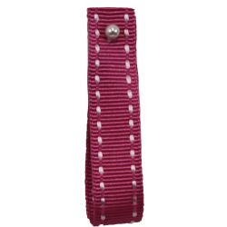 Stitched Grosgrain by Shindo in Shocking Pink (Colour 121) - available in 5mm - 15mm widths