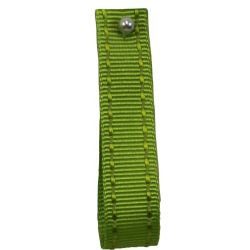 Stitched Grosgrain Ribbon By Shindo Ribbons in Green - available in 5mm-12mm-15mm widths