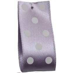 25mm Polka Dot Ribbon By Berisfords Ribbons Col: Orchid