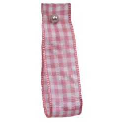 Gingham Ribbon By Berisfords in Rose (Colour 57) - available in 5mm - 40mm widths