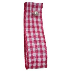 Gingham Ribbon By Berisfords in Shocking Pink (Colour 72) - available in 5mm - 40mm widths