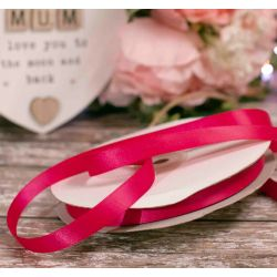 12mm Double Satin Ribbon. x 50m In Cerise