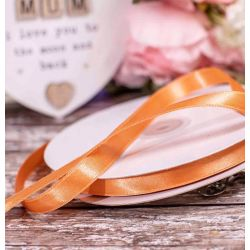 12mm Double Satin Ribbon. x 50m In Peach