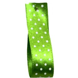 25mm Micro Dot Ribbon Article 5932 Col: Meadow Green
