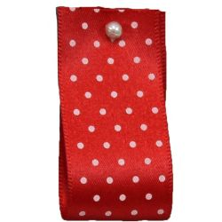 15mm Micro Dot Ribbon Article 5932 Col: Red