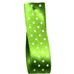 15mm Micro Dot Ribbon Article 5932 Col: Meadow Green