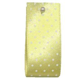 15mm Micro Dot Ribbon Article 5932 Col: Lemon