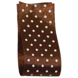 25mm Micro Dot Ribbon Article 5932 Col: Brown