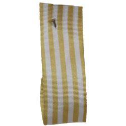 16mm x 25m Stripe Ribbon By Berisfords Ribbons Col: Beige