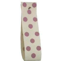 Polka Dot Grosgrain Ribbon 15mm Col: 5