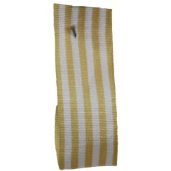 25mm x 25m Stripe Ribbon By Berisfords Ribbons Col: Beige