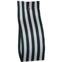25mm x 25m Stripe Ribbon By Berisfords Ribbons Col: Bottle Green