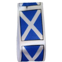 Scottish Flag Ribbons 35mm x 20m
