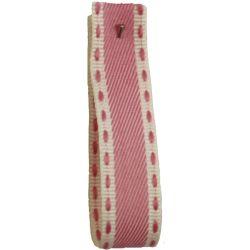 Vintage Stitch Ribbon 15mm x 4m col 4 - Pale Pink