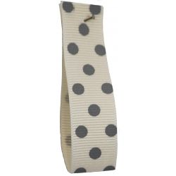 Polka Dot Grosgrain Ribbon 15mm Col: 3