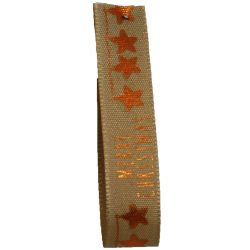 Merry Stars In Copper 15mm x 4m