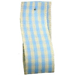 Rustic Gingham Ribbon in Blue (Colour 3) - available in 7mm - 25mm widths