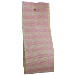 Rustic Gingham Ribbon in Pink - available in 7mm - 25mm widths