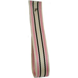 Deckchair Stripe Ribbon 10mm  By Berisfords Col: Pink
