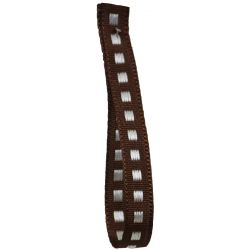 Box Stitch Ribbon 7mm x 20m Col: Brown