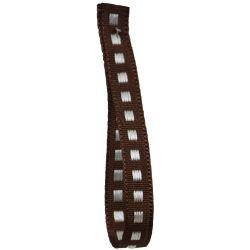 Box Stitch Ribbon 7mm x 5m Col: Brown