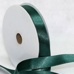 Forest Green Double Satin Ribbon 9mmx 25m