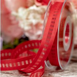 15mm Red LadderGrosgrain Ribbon By Berisfords Ribbons
