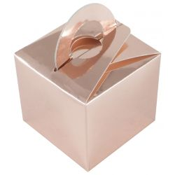 Wedding Favour Box In Rose Gold x10