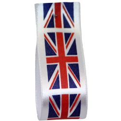 Union Jack Flag Ribbon 35mm x 20m