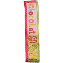 Easter 'Chocolat' Ribbon(Col 1847)  25m x 20m - Wired